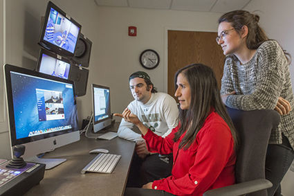 Psychology researchers hard at work in a state of the art computer lab